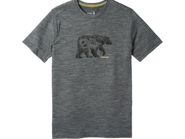 Smartwool Merino Sport 150 Bear Camp Camiseta Hombre, medium gray heather